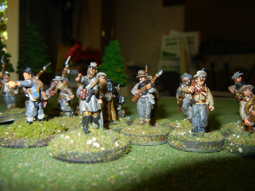 The Confederate captain leads the counterattack!