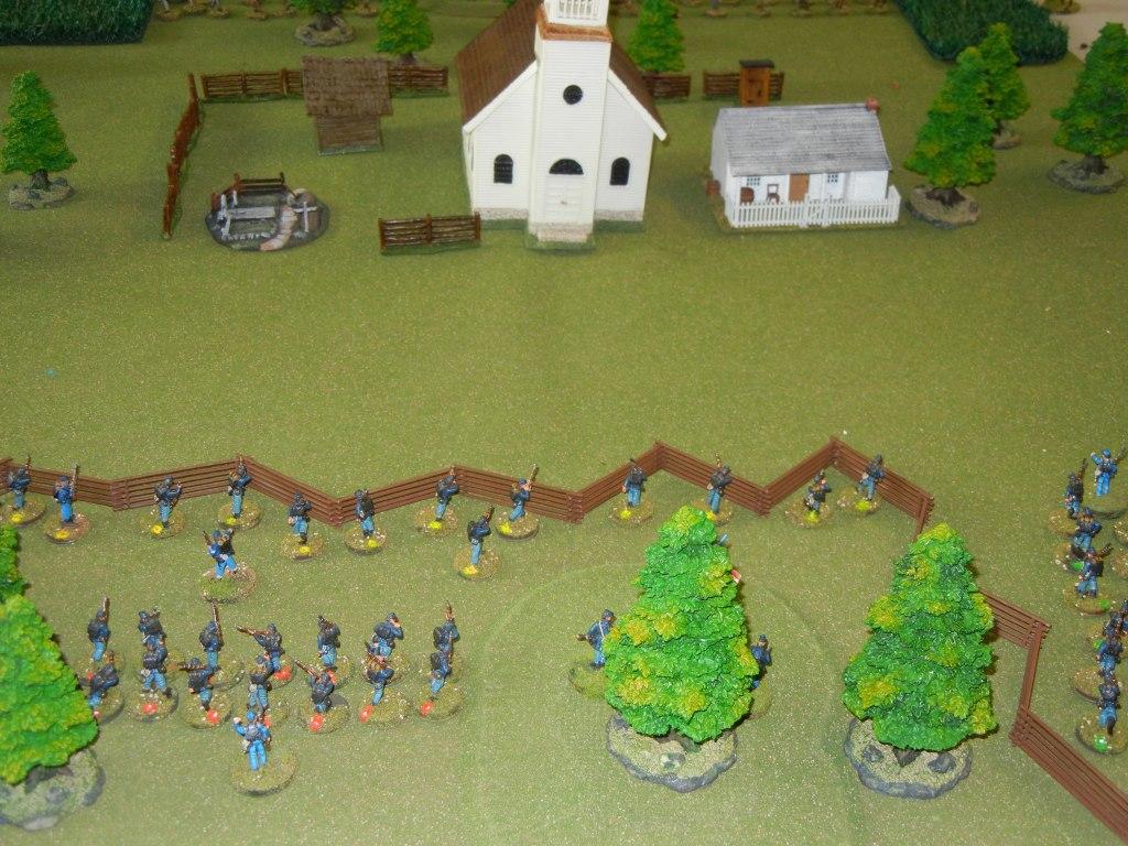 The Union advances towards the church.