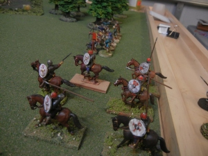 The Thane and his mounted Huscarls